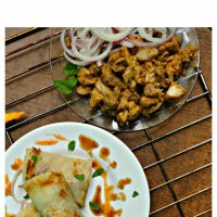 Chicken Roll Parathas
