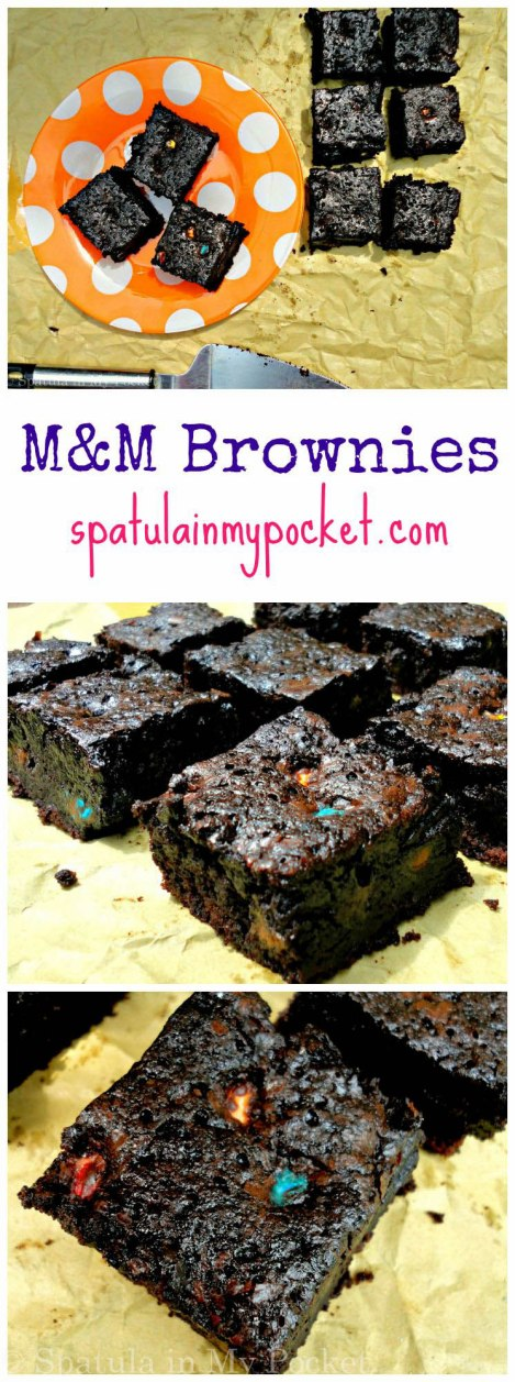 Fudgy, dark squares filled with M&Ms!