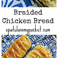 Easy Braided Chicken Bread