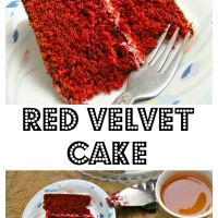 Red Velvet Cake with Whipped Cream Cheese Frosting