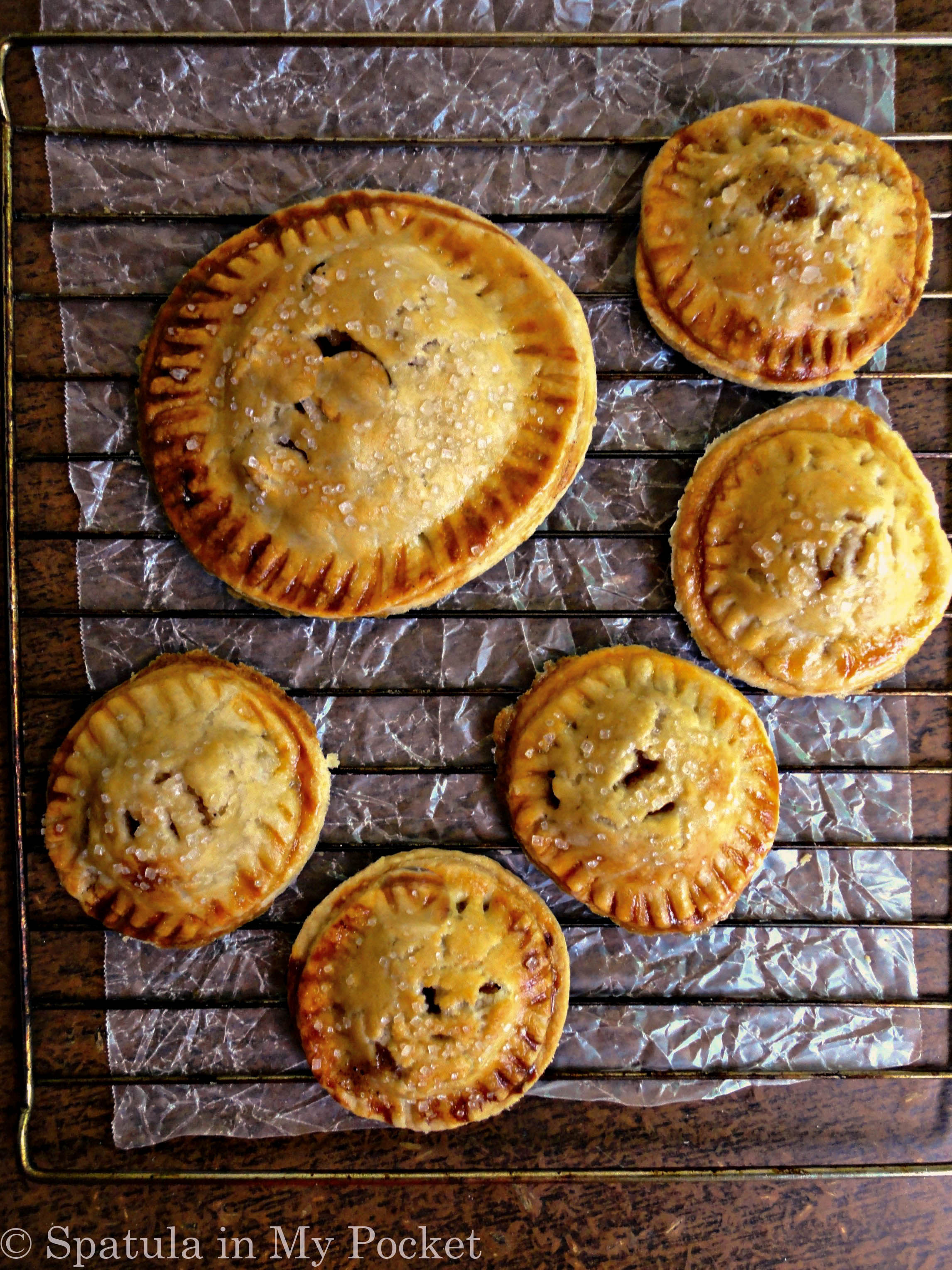 Mini apple pies. The flaky buttery crust filled with a cinnamon scented apple filling should definitely be on your to-bake list this winter!