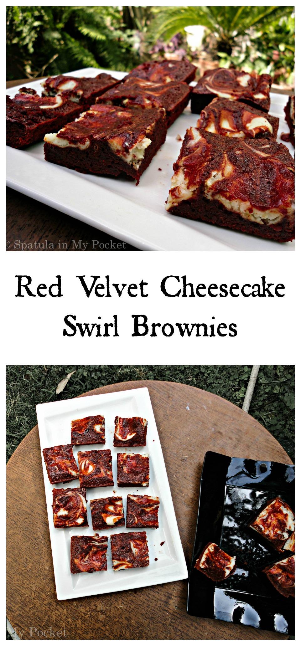 Red Velvet Cheesecake Swirl Brownies | Spatula in My Pocket