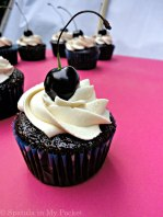 Moist Chocolate Cupcakes + Cherry Compote + Whipped Cream = YESPLEASE