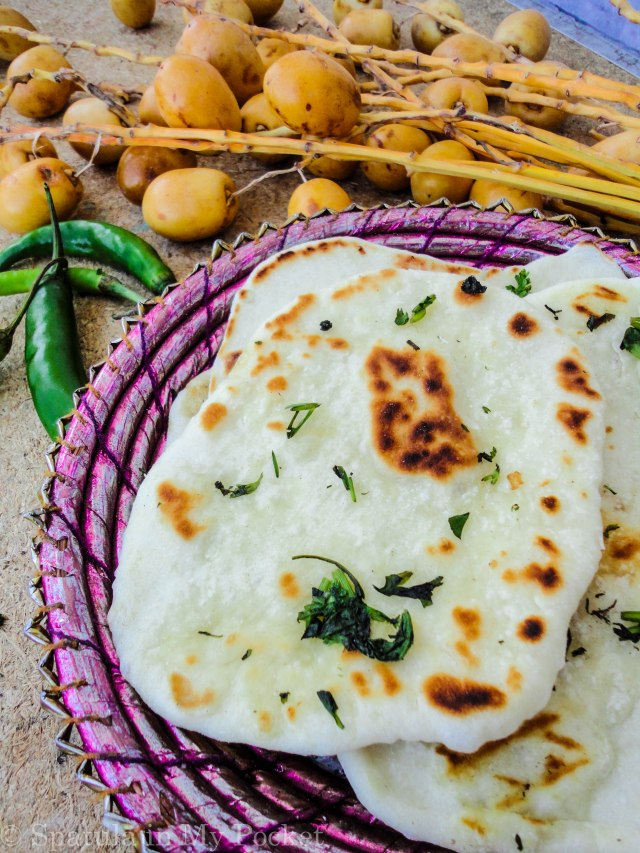Buttery and garlicky, these naan are incredibly soft with all those giant air pockets.