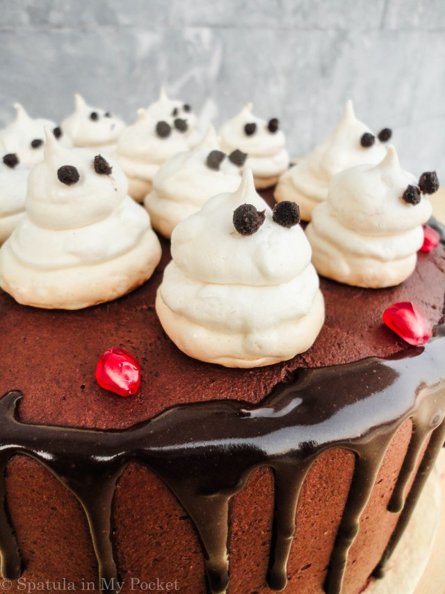 Meringue Ghosts. They're crunchy on the outside, and soft and mallowy on the inside.