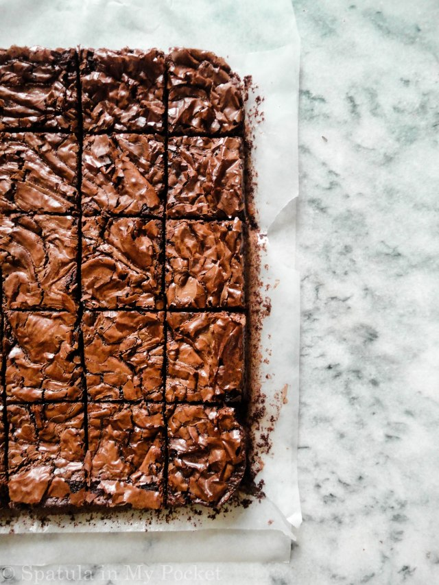 Fudgy on the inside, chewy around the edges. These brownies are the BEST brownies I've ever made.