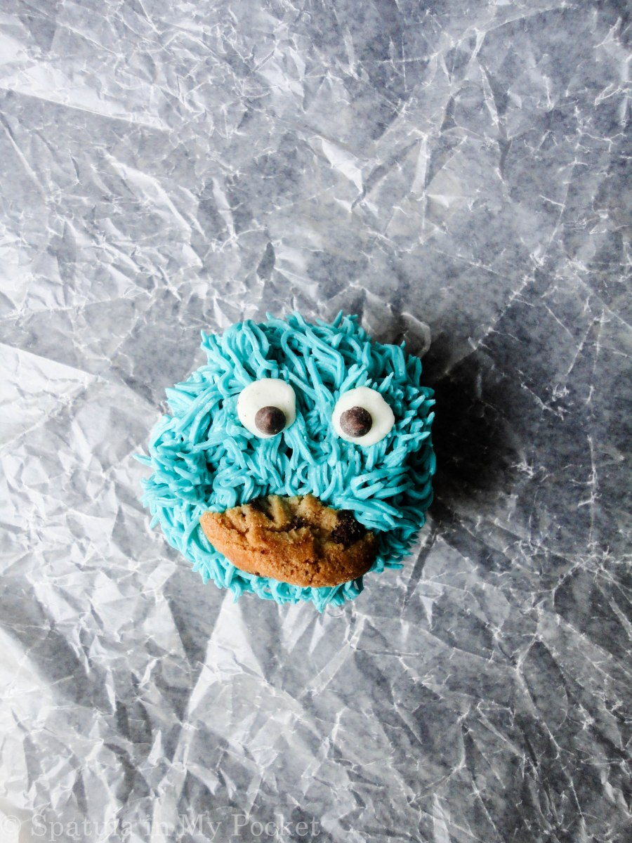 These adorable cookie monster cupcakes will brighten up anyone, anywhere.