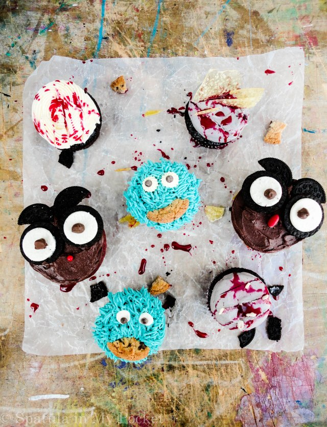 Cupcake Massacre. This would make for a perfect centerpiece for a Halloween celebration!
