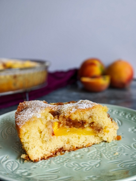 This Fresh Peach Cake is the perfect way to show off the season's juiciest peaches. Whether you pair it with a cup of tea or a dollop of cream, it will be hard to eat just one slice.